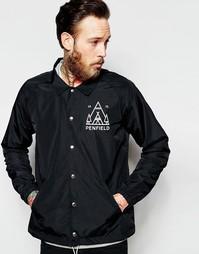 Черная непромокаемая тренерская куртка с рисунком Penfield - Черный