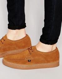 Замшевые туфли-криперы Farah Form Lo - Коричневый