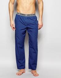 Домашние штаны в голубую клетку Ben Sherman - Синий