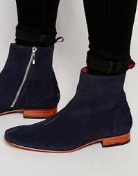 Замшевые ботинки на молнии Jeffery West - Синий