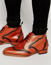 Кожаные ботинки чукка Jeffery West - Коричневый