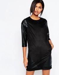 Цельнокройное платье с рукавами 3/4 Vero Moda - Черный