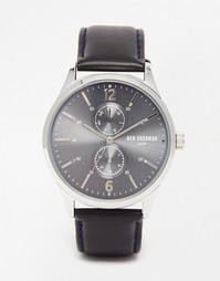 Часы с черным кожаным ремешком Ben Sherman Spitalfields - Черный