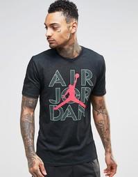 Черная футболка Nike Jordan Jumpman 789619-011 - Черный
