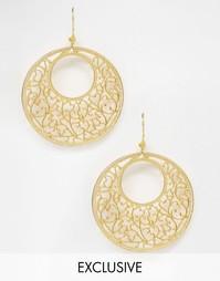 Серьги‑кольца с филигранью Ottomans Hands - Золотой