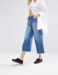 Укороченные джинсы с широкими штанинами Dr Denim Likke - Синий