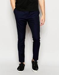 Строгие спортивные брюки Hugo By Hugo Boss - Темно-синий