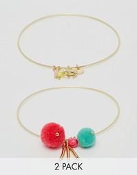 Набор браслетов с помпонами Orelia - Мульти