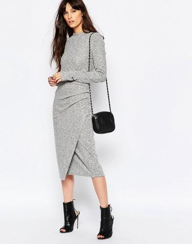 Серая юбка-карандаш Just Female Picnic - Серый