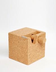 Пробковый куб-дозатор для скотча - Мульти Gifts