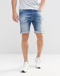 Суженные книзу джинсовые шорты Replay 901 - Умеренный выбеленный