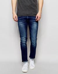 Эластичные джинсы скинни BOSS Orange - Синий