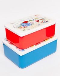 Набор из 2 коробок для ланча Cath Kidston - Белый