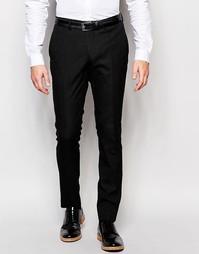 Зауженные строгие брюки в горошек Selected Homme - Черный