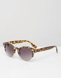 Круглые солнцезащитные очки в черепаховой оправе Jeepers Peepers