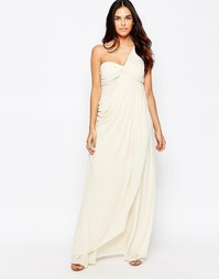 Платье макси с вырезами на плечах Jarlo - Кремовый
