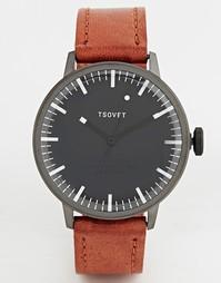 Часы с коричневым кожаным ремешком Tsovet - Рыжий