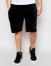 Велюровые шорты Stussy - Черный