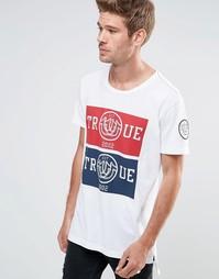 Длинная футболка с логотипом True Religion - Белый