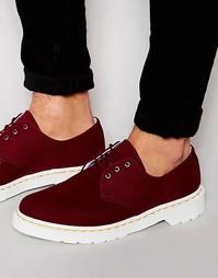 Ботинки с 3 люверсами Dr Martens - Красный