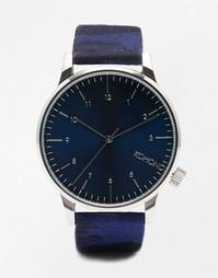 Часы с камуфляжным принтом Komono Winston - Синий
