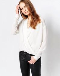 Блузка с запахом спереди Just Female - Белый
