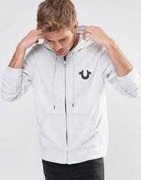 Худи с логотипом True Religion Crafted With Pride - Вереск-серый