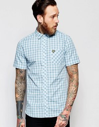 Рубашка в клетку с короткими рукавами Lyle & Scott - Синий