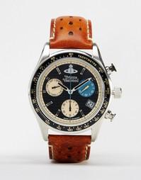 Часы с кожаным ремешком Vivienne Westwood Sotheby VV142BKTN - Рыжий
