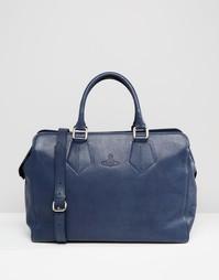 Кожаная сумка-саквояж Vivienne Westwood Weekender - Синий