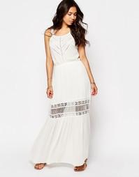 Кружевное платье макси Meghan Fabulous Lilian - Белый