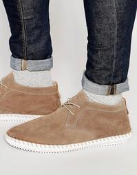 Замшевые туфли Hudson London Soralo - Бежевый