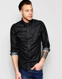 Джинсовая рубашка классического кроя Nudie Jeans Jonis - Black duke