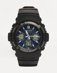 Аналоговые и цифровые часы черного цвета G-Shock AWG-M100SB - Черный