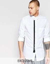 Рубашка с карманом и контрастной окантовкой Black Eye Rags - Белый