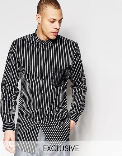 Длинная рубашка с воротом на пуговице Black Eye Rags - Черный
