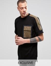Свитшот с короткими рукавами и отделкой на кармане Black Eye Rags