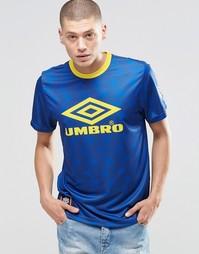 Футболка с большим логотипом Umbro - Синий