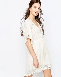 Кружевное платье‑трапеция Hazel - Естественный