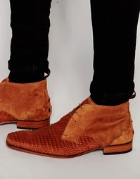 Замшевые ботинки чукка Jerrery West - Коричневый