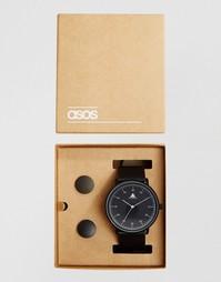 Часы и запонки в подарочной упаковке ASOS - Черный