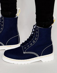 Ботинки с 8 люверсами Dr Martens Page - Синий