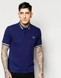 Синяя футболка-поло классического кроя с контрастной отделкой Fred Per