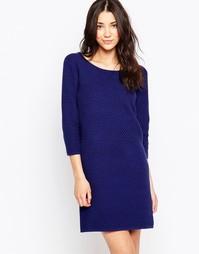 Платье-трапеция с рукавами 3/4 Ichi - Синий