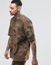 Камуфляжная oversize‑футболка Other UK - Хаки