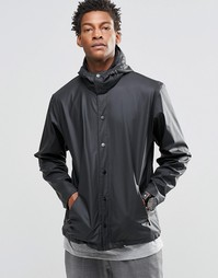 Черная спортивная куртка со съемным капюшоном Rains - Черный