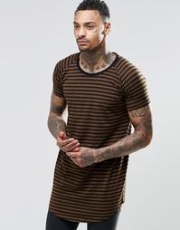 Удлиненная футболка Other UK - Хаки