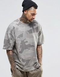 Камуфляжная oversize‑футболка Other UK - Stone