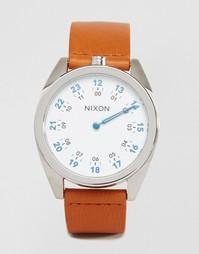 Часы с кожаным ремешком Nixon Genesis - Коричневый