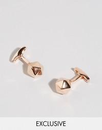 Золотисто-розовые запонки Simon Carter Buckminster - Золотой